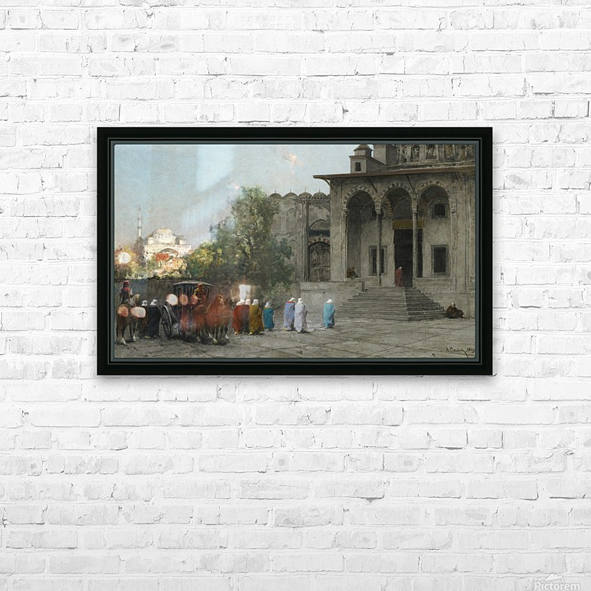 Entering mosque HD Sublimation Metal print with Decorating Float Frame (BOX)