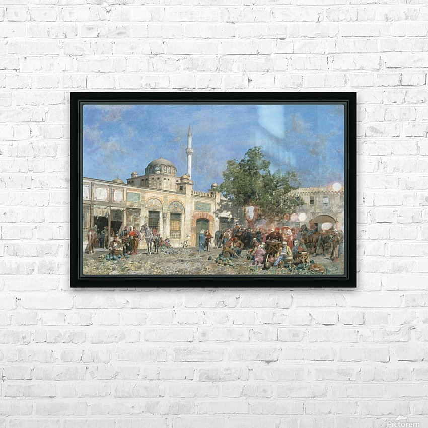 The market of Constantinople HD Sublimation Metal print with Decorating Float Frame (BOX)