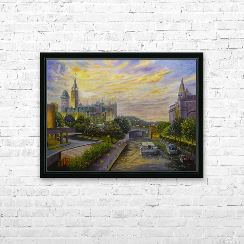 Rideau Canal in Ottawa HD Sublimation Metal print with Decorating Float Frame (BOX)