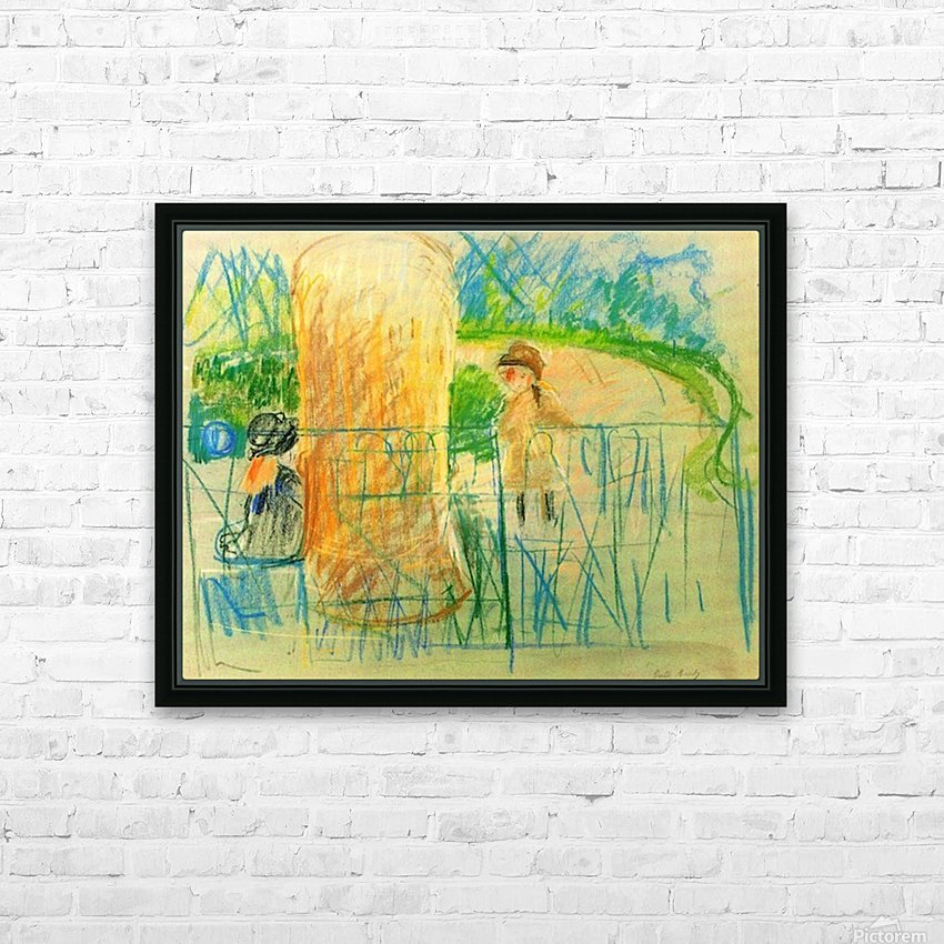 Chair in the garden -2- by Morisot HD Sublimation Metal print with Decorating Float Frame (BOX)