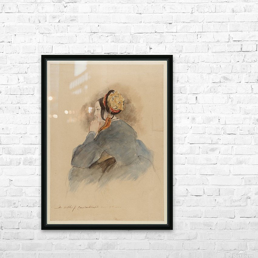 A Girl Seated, in Profile to Left HD Sublimation Metal print with Decorating Float Frame (BOX)