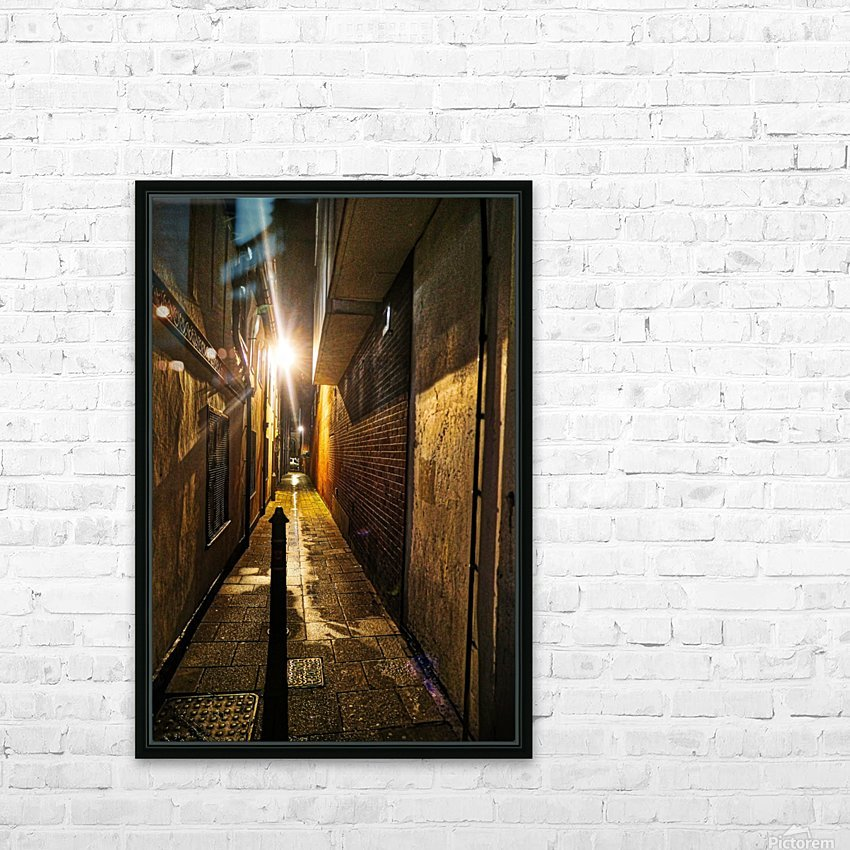 Alley light HD Sublimation Metal print with Decorating Float Frame (BOX)