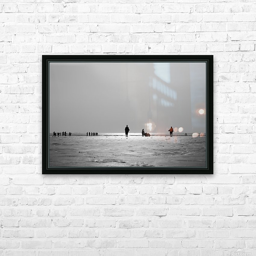 Clifton Beach in Karachi on sunset HD Sublimation Metal print with Decorating Float Frame (BOX)