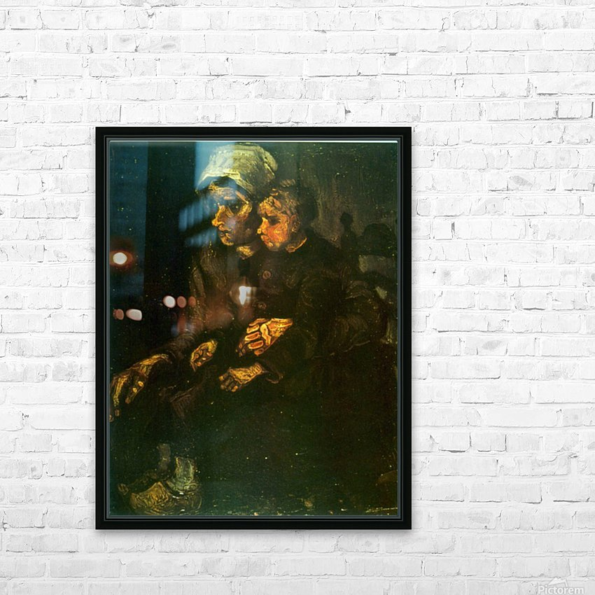 Child on Lap by Van Gogh HD Sublimation Metal print with Decorating Float Frame (BOX)