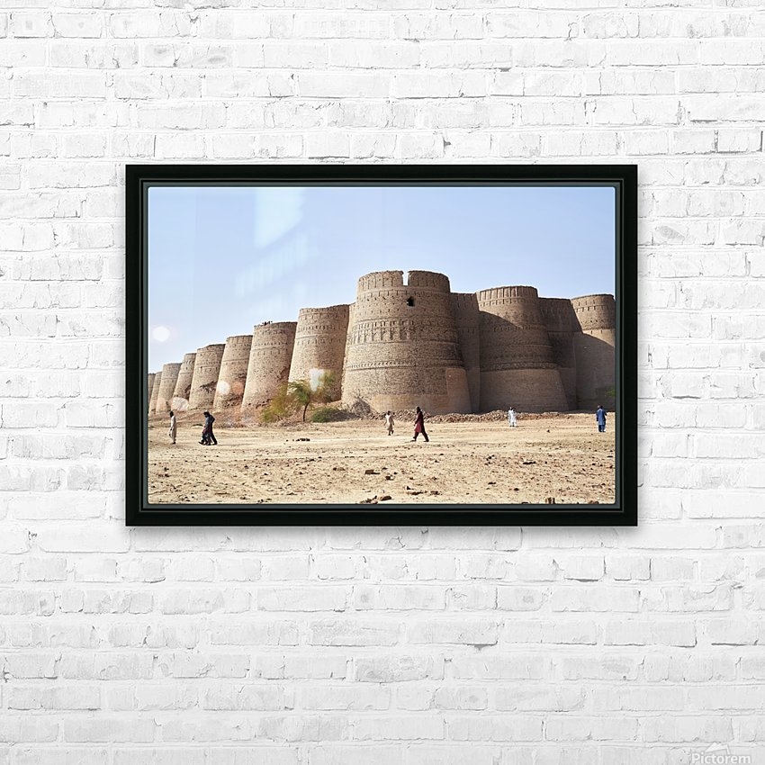 The majestic Derawar Fort in Pakistan HD Sublimation Metal print with Decorating Float Frame (BOX)