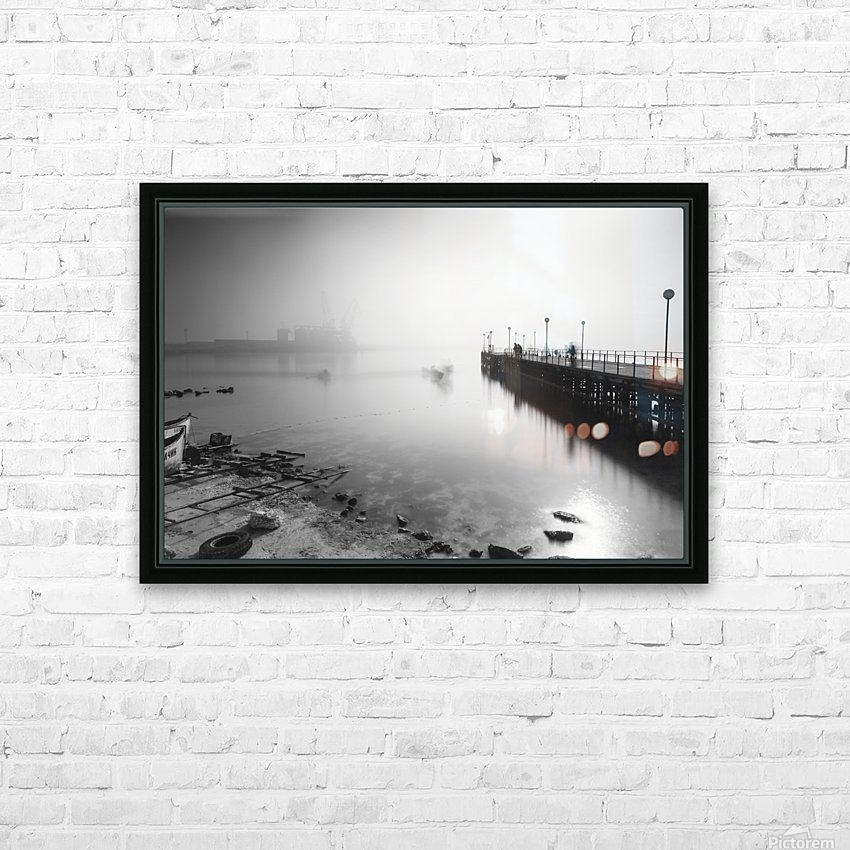 Foggy evening at the port of Balchik HD Sublimation Metal print with Decorating Float Frame (BOX)