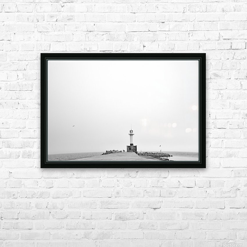 Minimalistic lighthouse HD Sublimation Metal print with Decorating Float Frame (BOX)