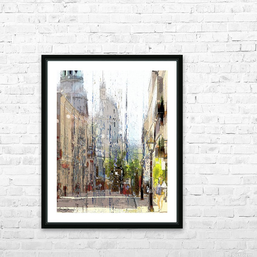Rue st-Paul Montreal HD Sublimation Metal print with Decorating Float Frame (BOX)