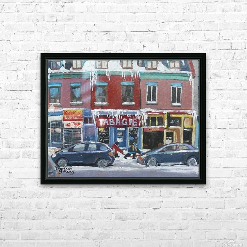 Tabagie HD Sublimation Metal print with Decorating Float Frame (BOX)