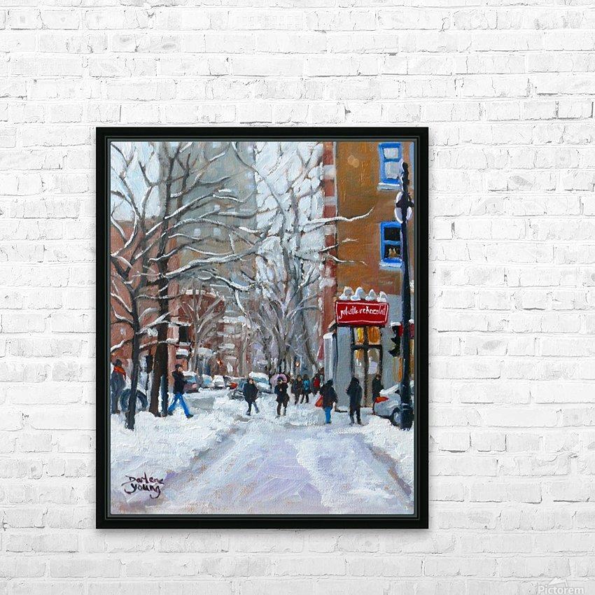 Le Plateau Mont Royal HD Sublimation Metal print with Decorating Float Frame (BOX)