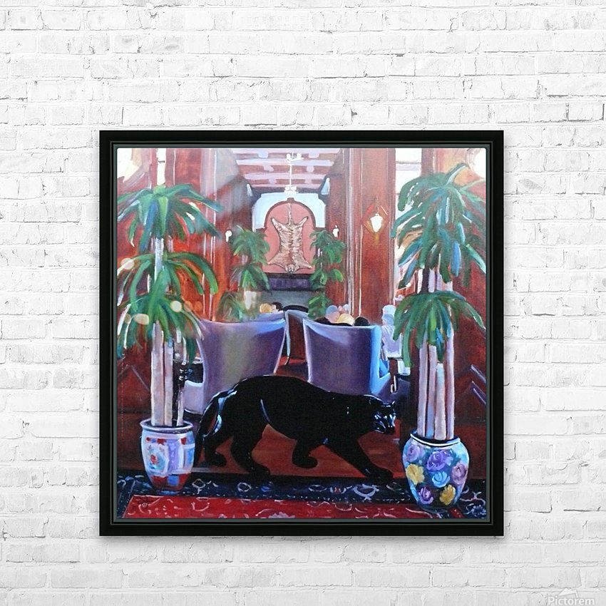 Bengal Lounge HD Sublimation Metal print with Decorating Float Frame (BOX)