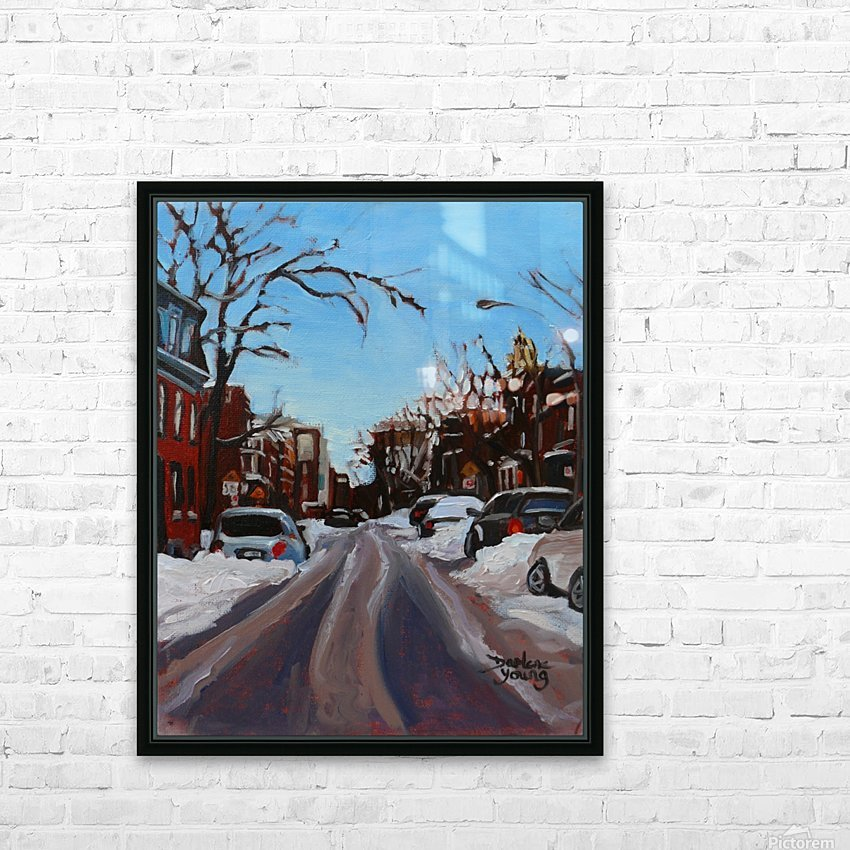 Montreal Winter Scene HD Sublimation Metal print with Decorating Float Frame (BOX)
