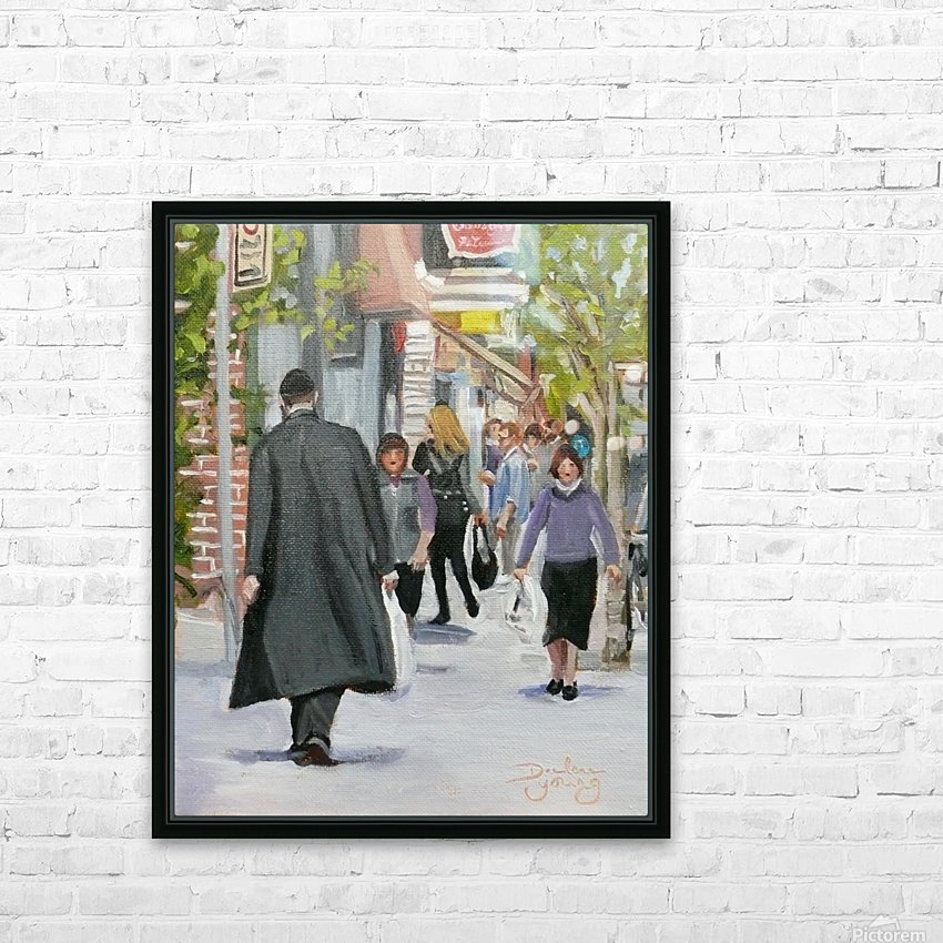 St-Viateur Street HD Sublimation Metal print with Decorating Float Frame (BOX)