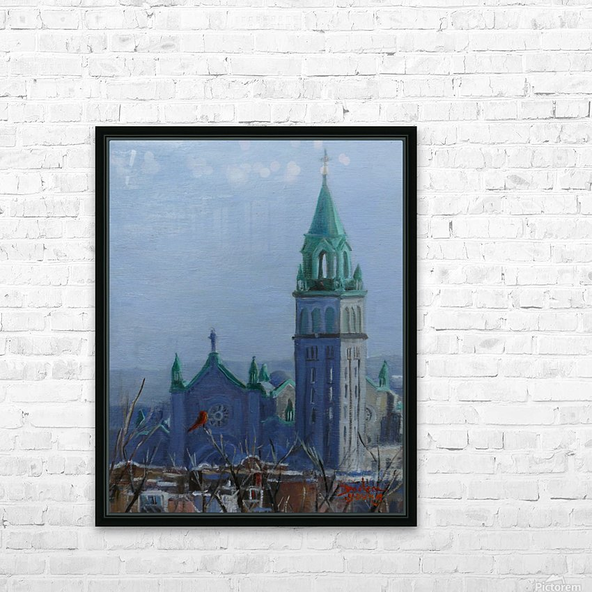 Cardinal and Cathedral HD Sublimation Metal print with Decorating Float Frame (BOX)
