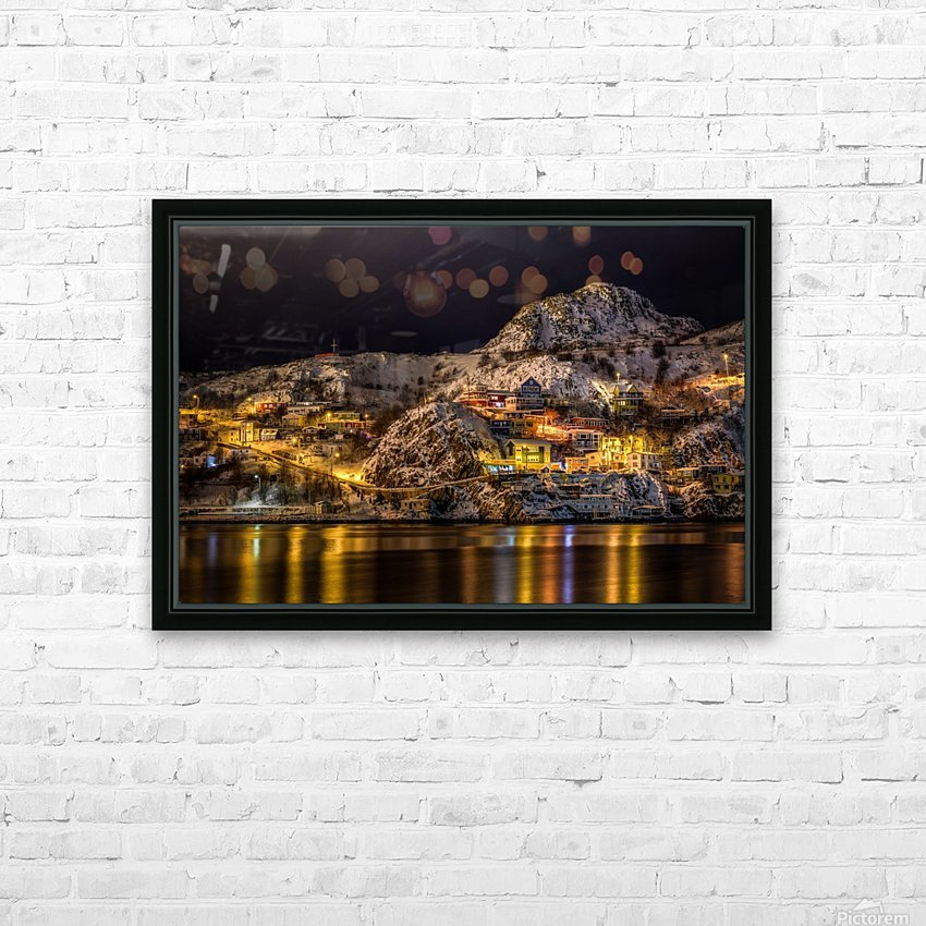Across the Harbour HD Sublimation Metal print with Decorating Float Frame (BOX)