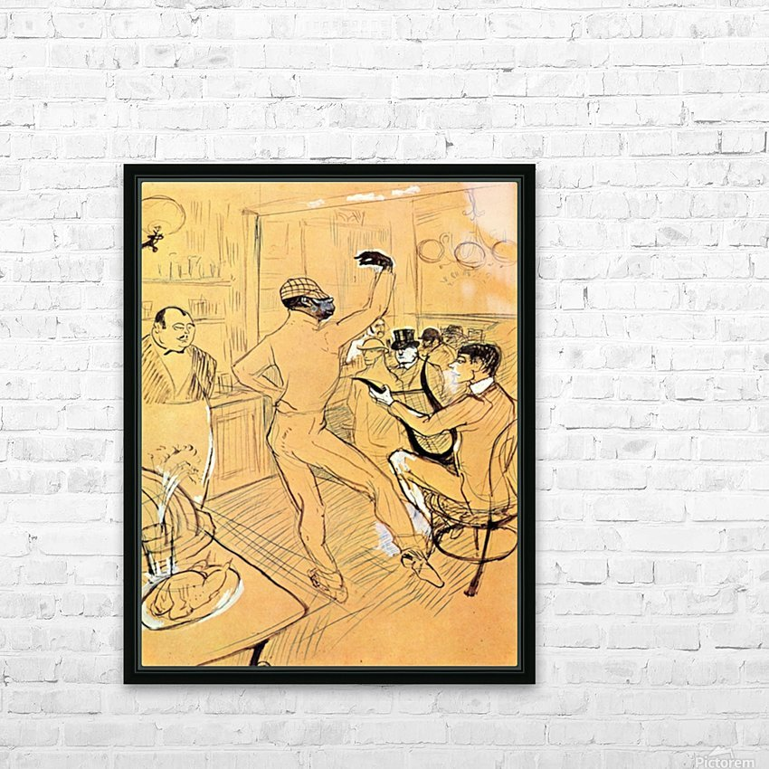 Chocolat dance by Toulouse-Lautrec HD Sublimation Metal print with Decorating Float Frame (BOX)
