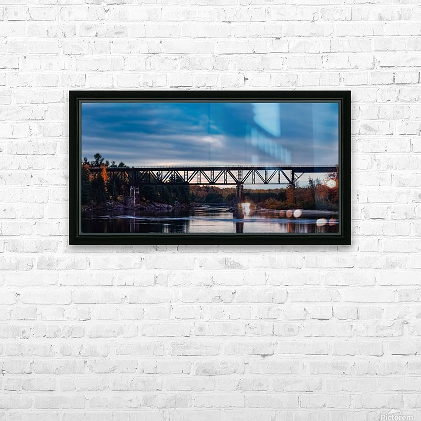 Lheure bleue HD Sublimation Metal print with Decorating Float Frame (BOX)