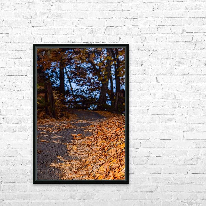 Au bout du chemin HD Sublimation Metal print with Decorating Float Frame (BOX)