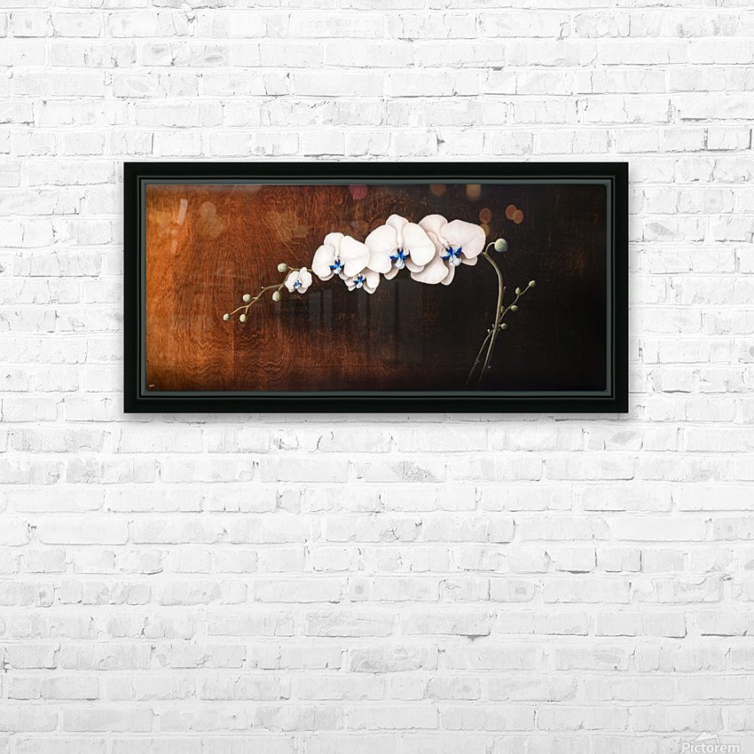 Orchids and Moonlight HD Sublimation Metal print with Decorating Float Frame (BOX)