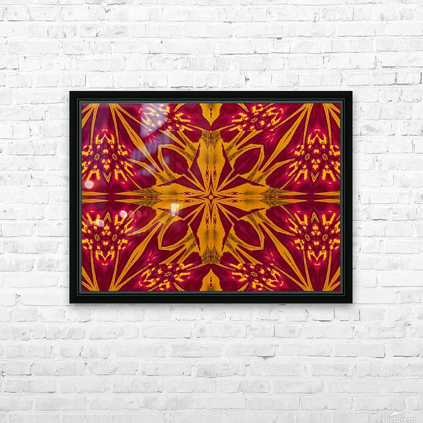 Wildflower of Gold and Red HD Sublimation Metal print with Decorating Float Frame (BOX)