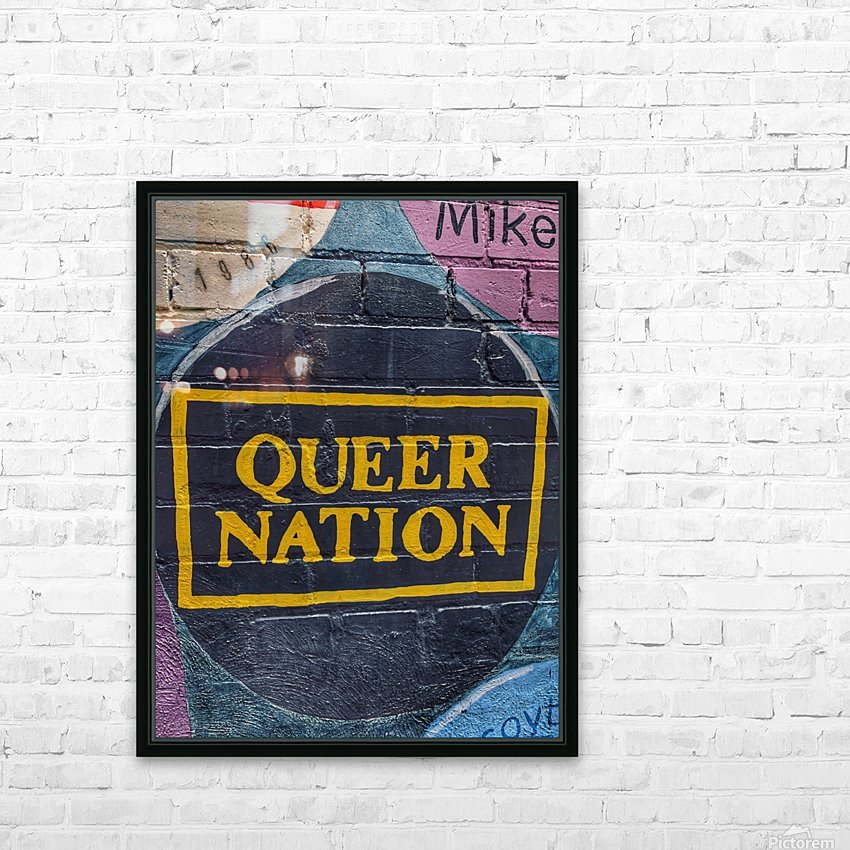 Queer Nation - Toronto HD Sublimation Metal print with Decorating Float Frame (BOX)