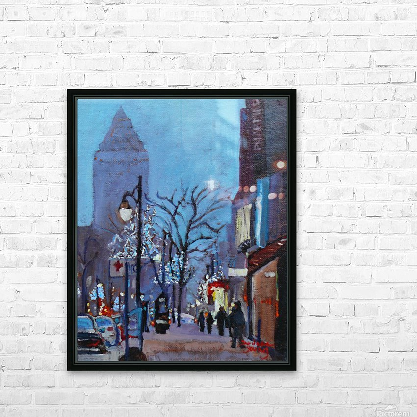 Downtown Montreal Night HD Sublimation Metal print with Decorating Float Frame (BOX)