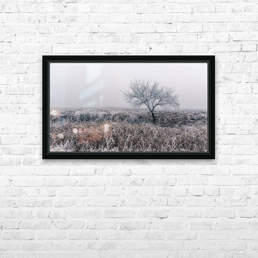 Hoar Frost HD Sublimation Metal print with Decorating Float Frame (BOX)