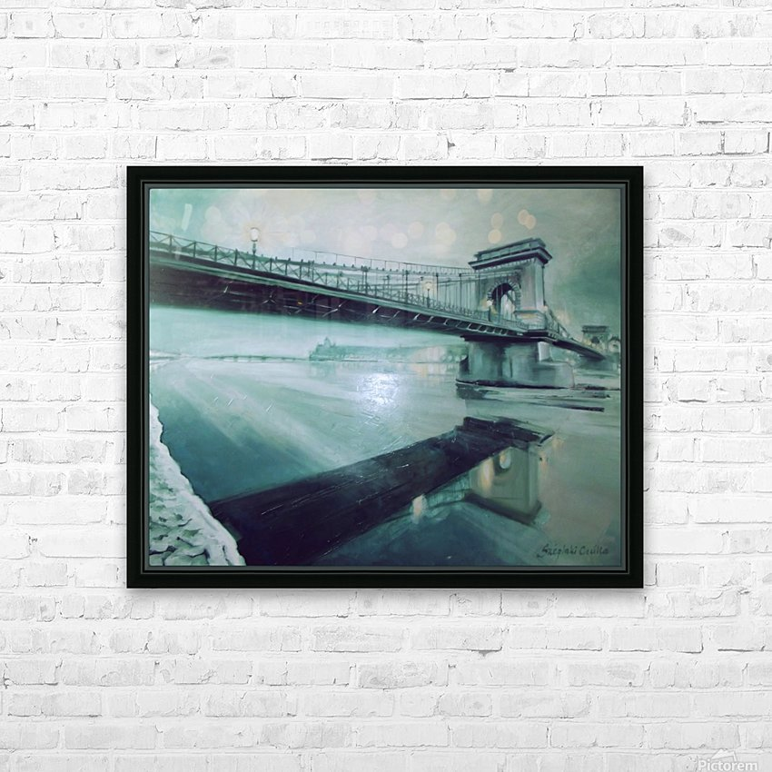 Chain Bridge HD Sublimation Metal print with Decorating Float Frame (BOX)