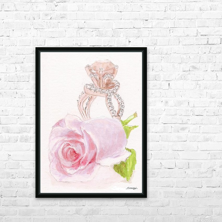 Pink Diamonds HD Sublimation Metal print with Decorating Float Frame (BOX)