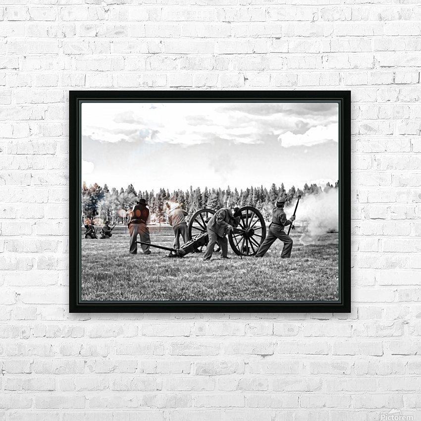 Civil War Re-enactment HD Sublimation Metal print with Decorating Float Frame (BOX)