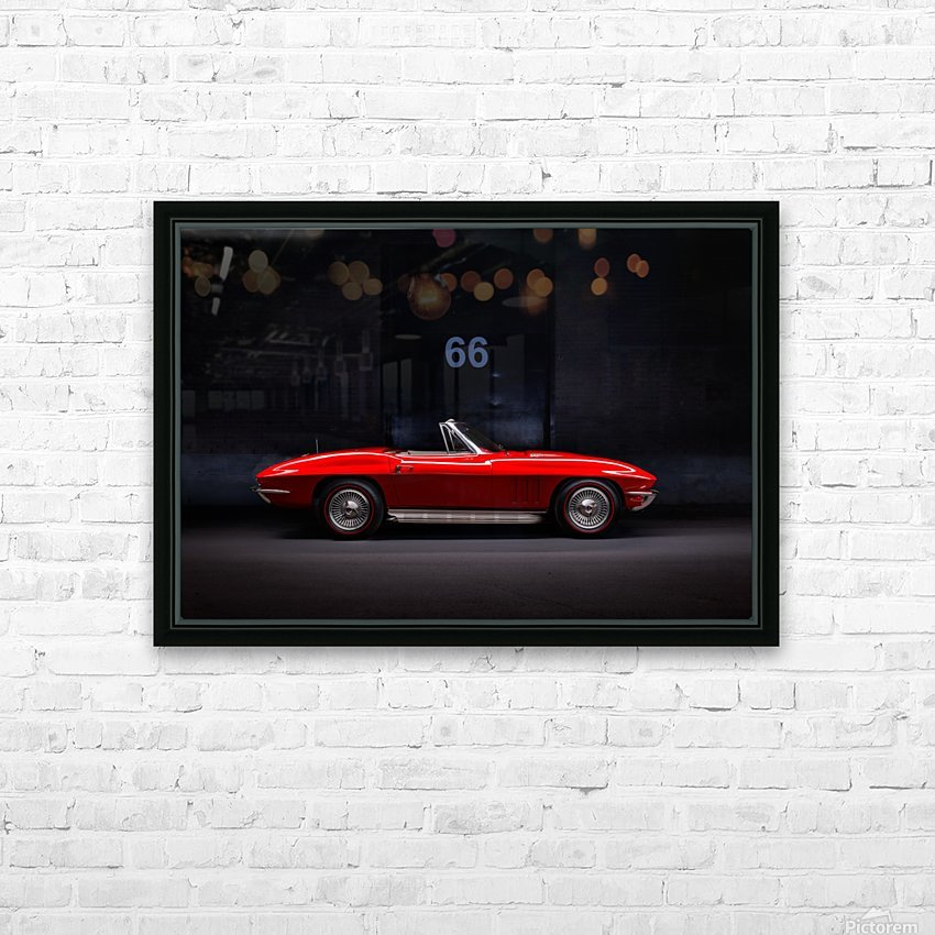 66 Vette Side_Edit Shadow 2 HD Sublimation Metal print with Decorating Float Frame (BOX)