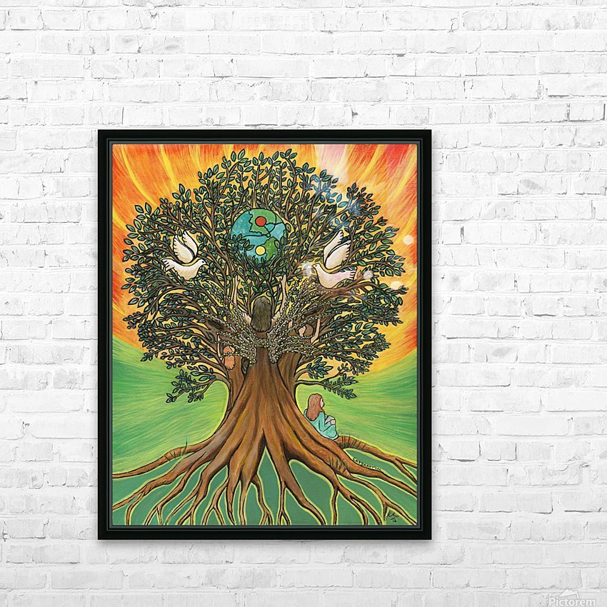Rooted In The Tree Of Humanity HD Sublimation Metal print with Decorating Float Frame (BOX)