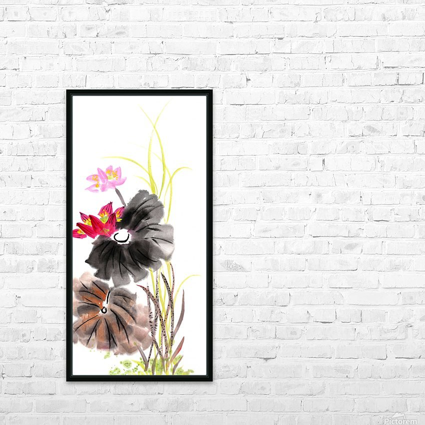 Lotus Flower HD Sublimation Metal print with Decorating Float Frame (BOX)