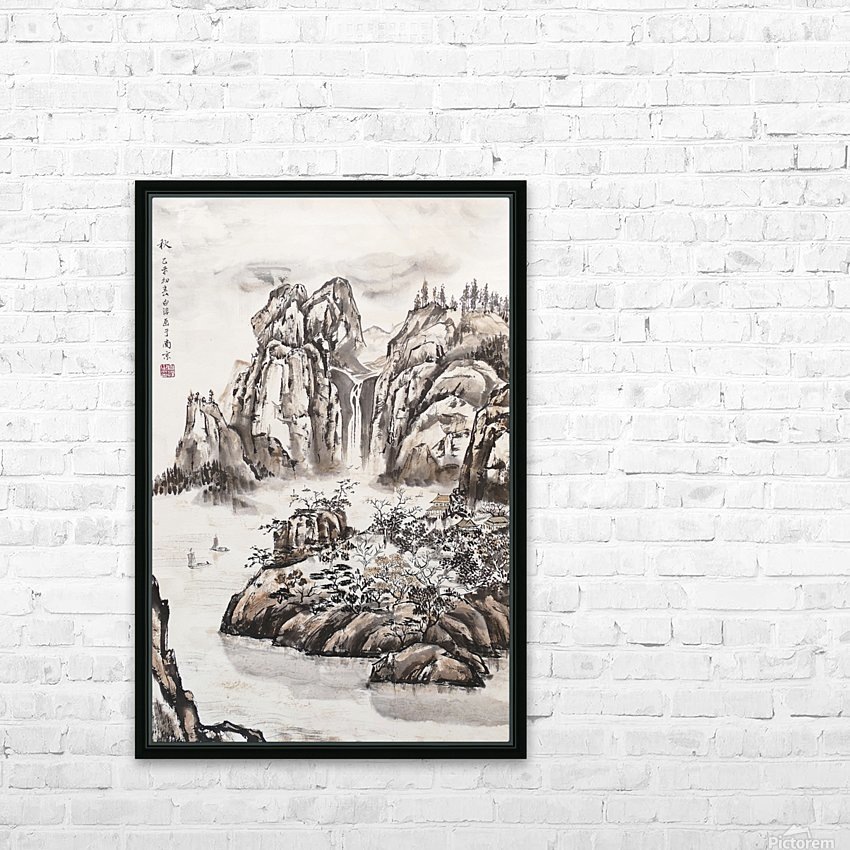 Yangze River with Water Fall HD Sublimation Metal print with Decorating Float Frame (BOX)
