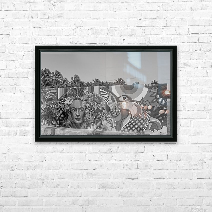 Bursting with Colour B&W HD Sublimation Metal print with Decorating Float Frame (BOX)