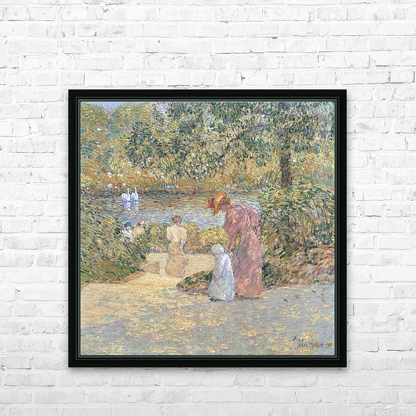 The staircase at Central Park by Hassam HD Sublimation Metal print with Decorating Float Frame (BOX)