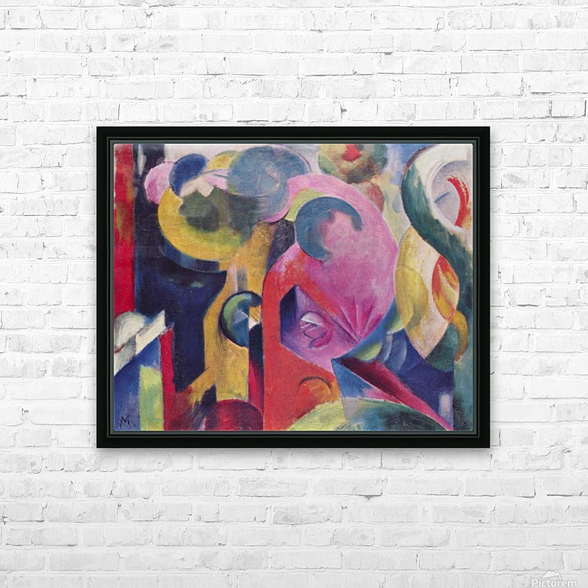 Composition III by Franz Marc HD Sublimation Metal print with Decorating Float Frame (BOX)
