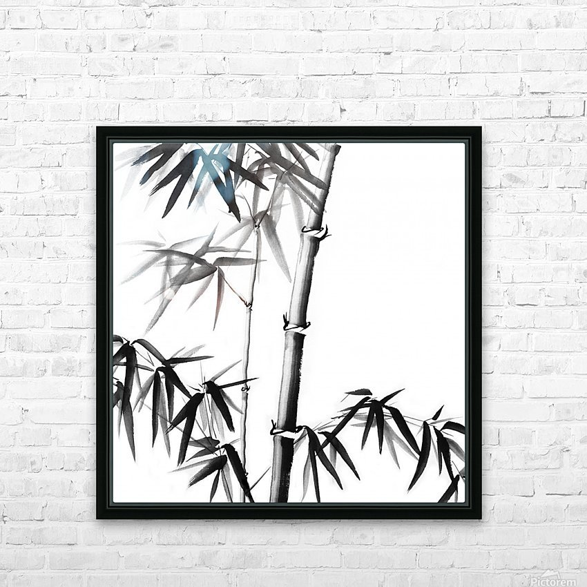 Bamboo - Chinese Style HD Sublimation Metal print with Decorating Float Frame (BOX)