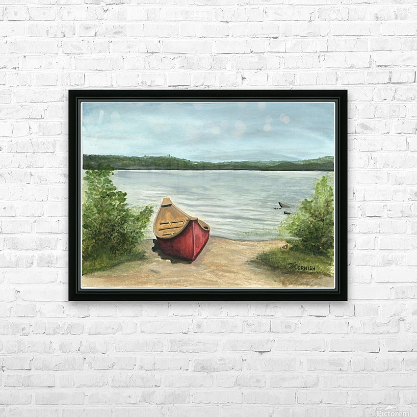 Beauty Lake HD Sublimation Metal print with Decorating Float Frame (BOX)