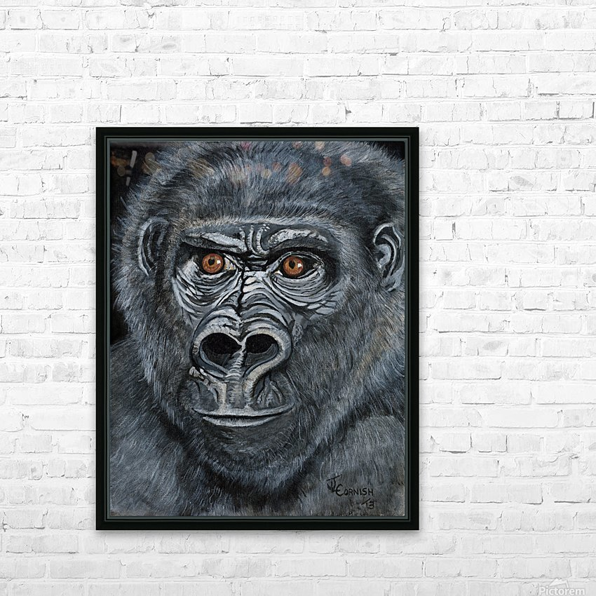 Silverback HD Sublimation Metal print with Decorating Float Frame (BOX)