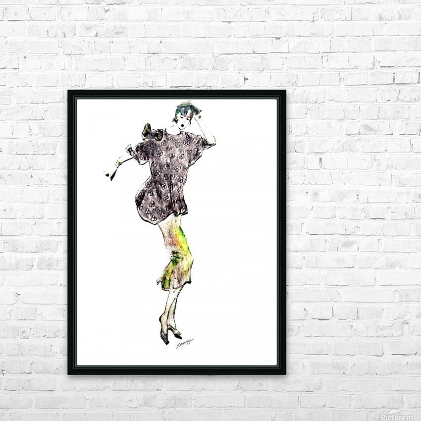 1980's Fashion HD Sublimation Metal print with Decorating Float Frame (BOX)
