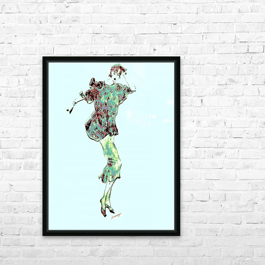 1980's Fashion on Blue HD Sublimation Metal print with Decorating Float Frame (BOX)