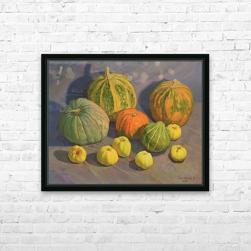 Pumpkins_And_Apples HD Sublimation Metal print with Decorating Float Frame (BOX)