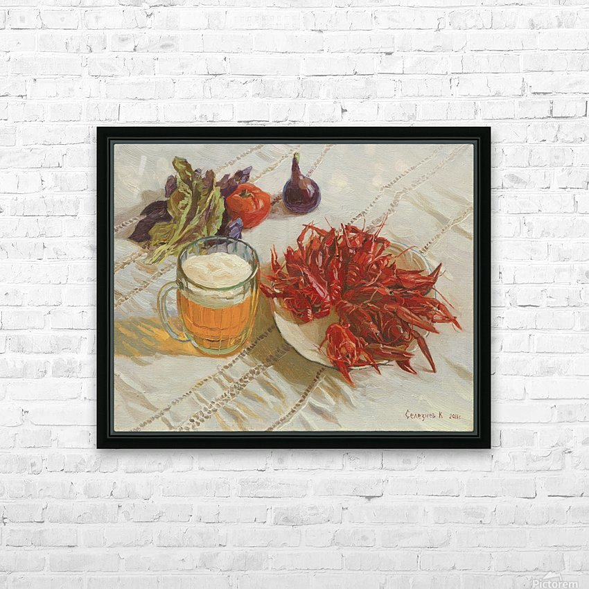 Still_Life_With_Crawfish HD Sublimation Metal print with Decorating Float Frame (BOX)