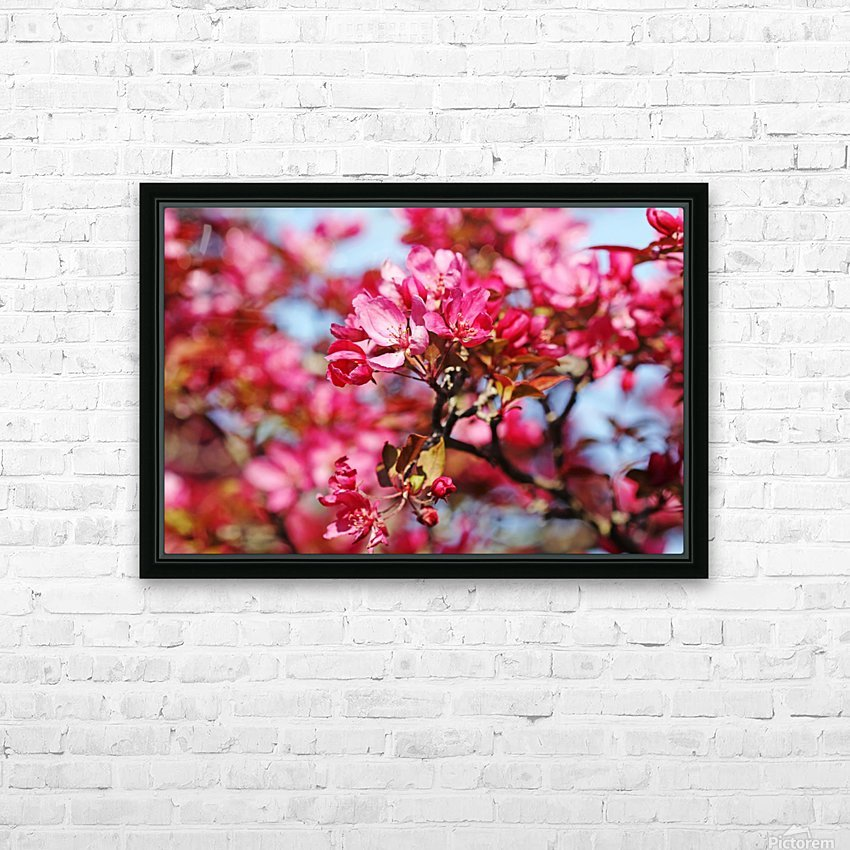 Crabapple Pink HD Sublimation Metal print with Decorating Float Frame (BOX)
