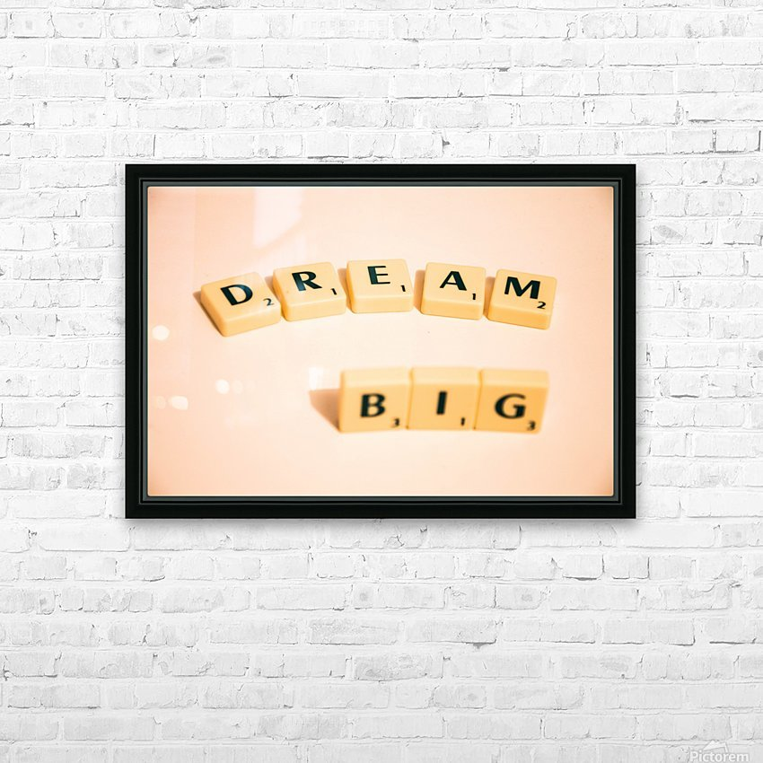 Dream Big HD Sublimation Metal print with Decorating Float Frame (BOX)