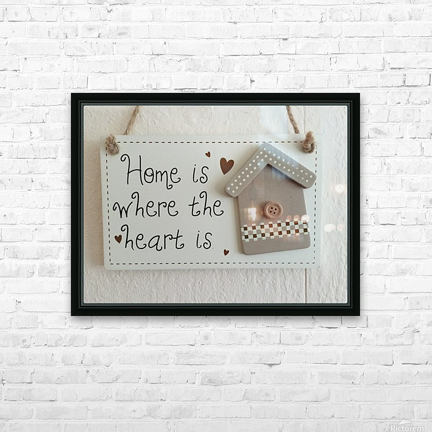 Sweet Home HD Sublimation Metal print with Decorating Float Frame (BOX)