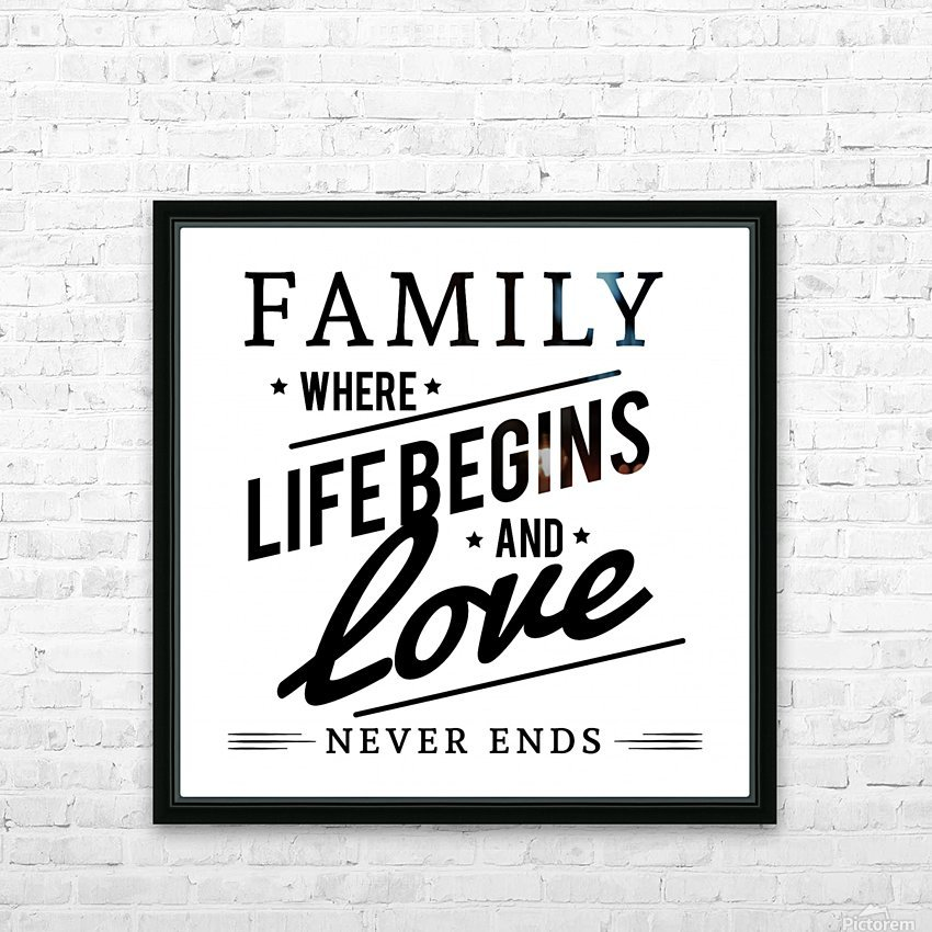 Family Love HD Sublimation Metal print with Decorating Float Frame (BOX)