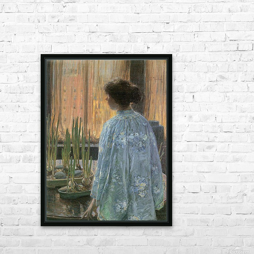 The table garden by Hassam HD Sublimation Metal print with Decorating Float Frame (BOX)