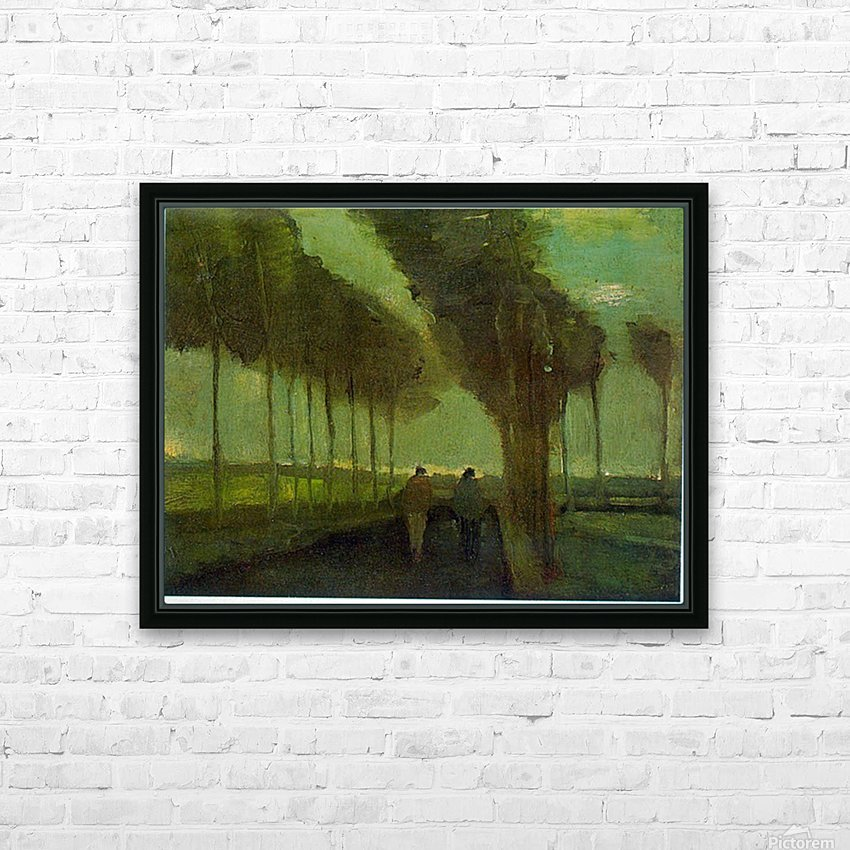 Country Lane by Van Gogh HD Sublimation Metal print with Decorating Float Frame (BOX)
